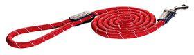 Rogz - Utility Rope 1.2cm Large 1.8m Long Dog Leash - Red Reflective