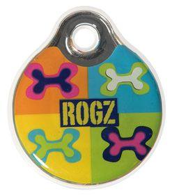 Rogz ID Tagz Large 34mm Self-Customisable Instant Resin Tag - Pop Art Design