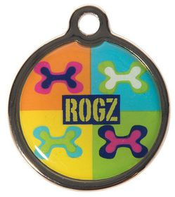 Rogz ID Tagz Large 31mm Metal Tag - Pop Art Design
