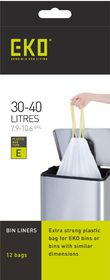 Eko - Type E 12 Bin Bags On A Roll - 30 To 40 Litre