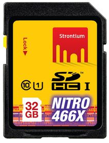 Strontium 32GB SDHC UHS-1 NITRO 466X Card
