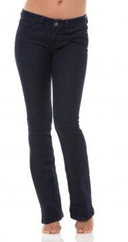 Yummie Tummie Shape Jeans Slim Boot in Dark Blue