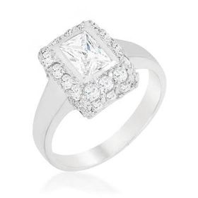 Miss Jewels 1.91ctw 925 Sterling Silver Engagement Ring