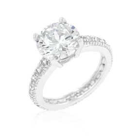 Miss Jewels 4.27ctw Cubic Zirconia Enagagement Style Ring