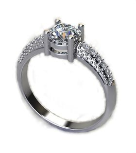 Miss Jewels CD Designer Jewelry 1.24ctw CZ Promise Ring in 925 Sterling Silver
