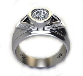 Miss Jewels CD Designer Jewelry 1.09ctw CZ Engagement Ring in 925 Sterling Silver