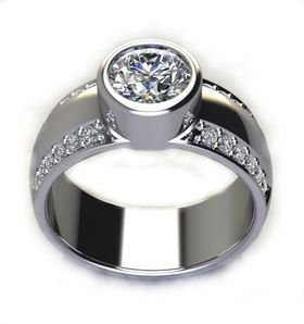 Miss Jewels CD Designer Jewelry 1.12ctw Wedding Band in 925 Sterling Silver