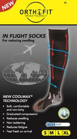 Orthofit Inflight Socks - White - Medium