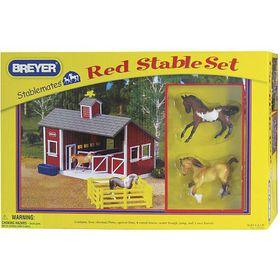Breyer Stablemates Red Stable Set