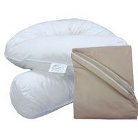 Bodypillow Comfi-Curve T233 100% Pure Cotton - T200 Pillowcase Included - Coffee
