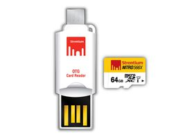 Strontium 64GB nitro Micro SDHC 566X UHS-1 Card with OTG and USB Reader