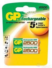 GP Batteries 1.2V AA 2500 mAh NiMH Rechargeable Batteries