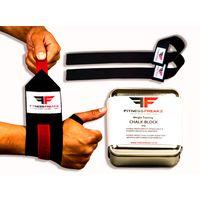 Fitness Freakz Lifting Straps & LW Wrist & Chalk