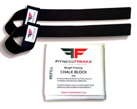 Fitness Freakz Lifting Straps & Chalk Refill