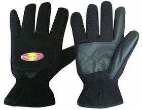 Techniche Thermafur Air Activated Heating Fleece Gloves - Black