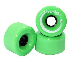 Peg Groveler 83a Longboard Wheels - Green