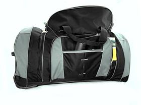 Eco Extra Large Rolling Travel Duffel - Black & Grey