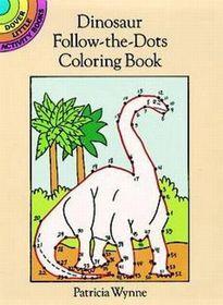Dinosaur Follow-The-Dots Coloring Book