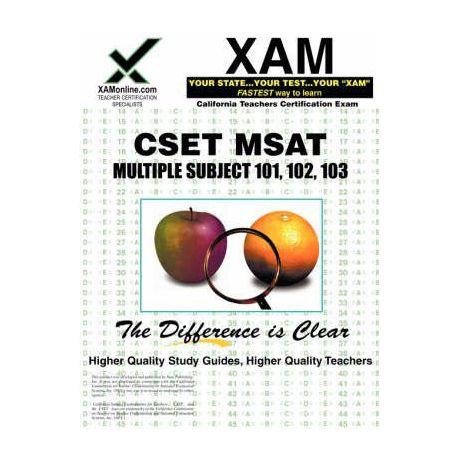 Cset MSAT Multiple Subjects 101, 102, 103 Teacher Certification Test Prep  Study Guide