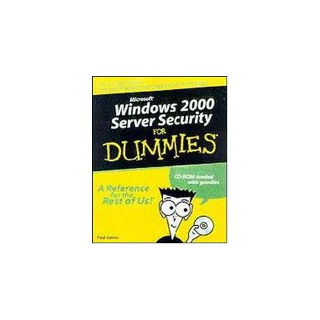 Windows 2000 Server Security for Dummies [With CDROM]