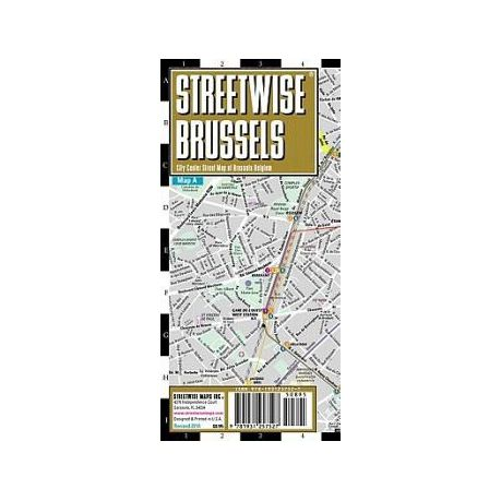 Streetwise Brussels Map Laminated City Center Street Map of Brussels ...