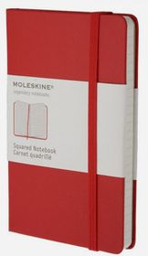 Moleskine Classic Red Pocket Squared Notebook