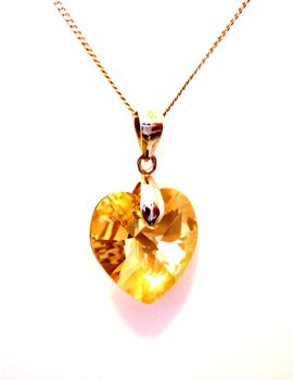 Shamelle Heart Pendant Necklace - Golden Shadow