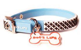 Dog's Life - Non-Toxic PVC Morocco Collar - Turquoise - Small