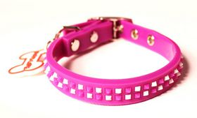 Dog's Life - Non-Toxic PVC Punkspike Collar - Purple - Extra-Large