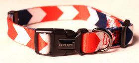 Dog's Life - Pooch Webbing Collar - Nautical - Large