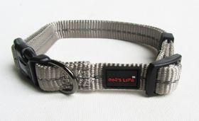 Dog's Life - Reflective Supersoft Webbing Collar - Grey - Extra-Large
