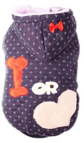 Dog's Life - Bone Or Love Hoodie Navy - Extra-Large