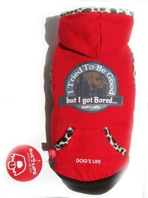 Dogs Life - Bored Tee Red - 2 x Extra-Small