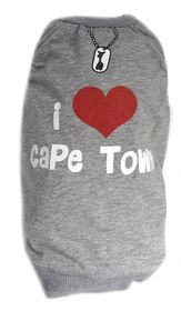Dog's Life - I Love Cape Town Summer Tee Grey - Extra-Large