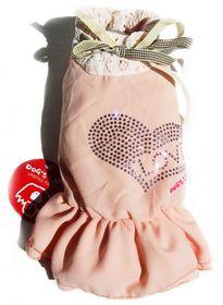 Dog's Life - Love Chiffon Dress Pink - Large