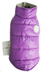 Dog's Life - Polka Dot Parka Turtle Neck - Purple - Extra-Small