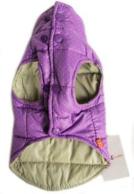 Dogs Life - Polka Dot Parka Turtle Neck - Purple - 2 x Extra-Large
