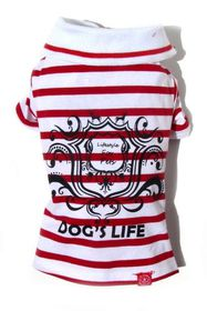 Dog's Life - Gentleman's Polo Shirt Red - 2 x Extra Large