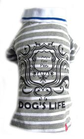 Dog's Life - Gentleman's Polo Shirt Grey - Extra-Small