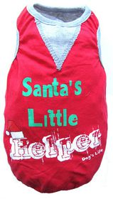 Dog's Life - Santa's Little Helper Tee - Red - Extra-Small