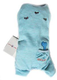 Dog's Life - DL Stripe PJ With Bone and Pocket Baby Blue - 2 x Extra Small
