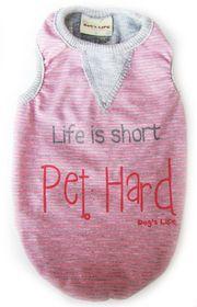 Dog's Life - Stripe Tee - Pink - Extra Large