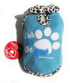 Dog's Life - Talk 2 Paw Tee Blue - Extra Small