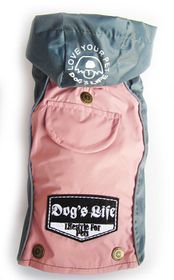 Dogs Life - Winter Rain Coat - Pink - 6 x Extra-Large