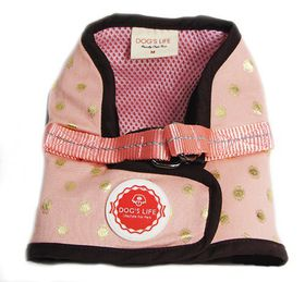 Dog's Life - Polka Dot Harness Vest - Pink - Large