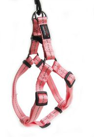 Dog's Life - Reflective Supersoft Webbing Harness - Pink - Large