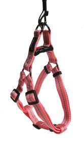 Dog's Life - Reflective Supersoft Webbing Harness - Pink - Small
