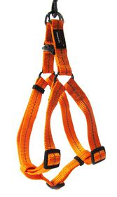 Dog's Life - Reflective Supersoft Webbing Harness - Orange - Small