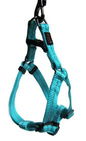 Dog's Life - Reflective Supersoft Webbing Harness - Turquoise - Medium