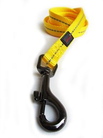 Dog's Life - Reflective Supersoft Webbing Leash - Yellow - Medium